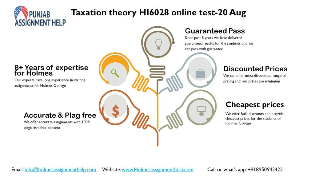 Get HI6028 T2 2021 Taxation Theory, Practice & Law with Punjab Assignment Help